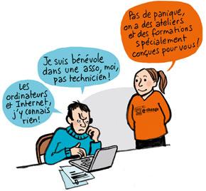 Illustration s'engager comme bénévole